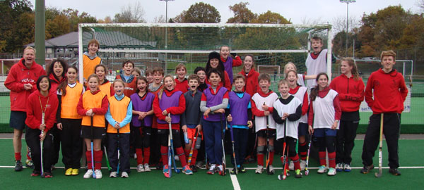U12 whites and reds at games day, December 2013