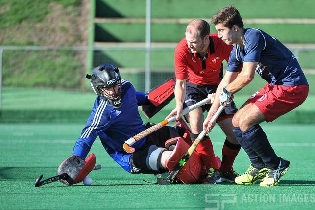 Southgate v Oxted - Men's Hockey League - Conference East, Trent Park, London, UK on 02 October 2016. Photo: Simon Parker
