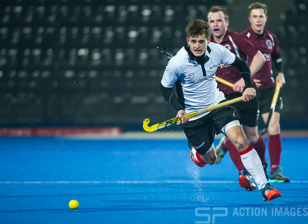 Southgate's Jonny Maunder. Wapping v Southgate - Men's Hockey League - East Conference, Lee Valley Hockey & Tennis Centre, London, UK on 11 February 2017. Photo: Simon Parker